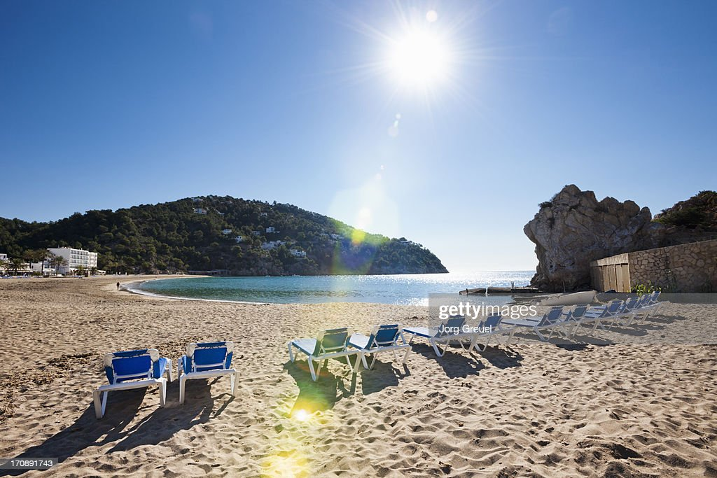 Beach at Cala de Sant Vicent : Stock Photo