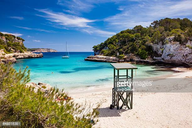 beach at cala llombards - majorca stock pictures, royalty-free photos & images