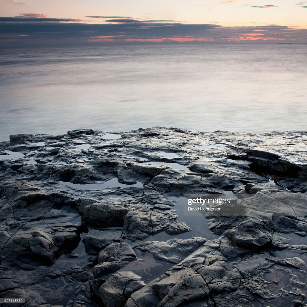 Beach at dawn : Stockfoto