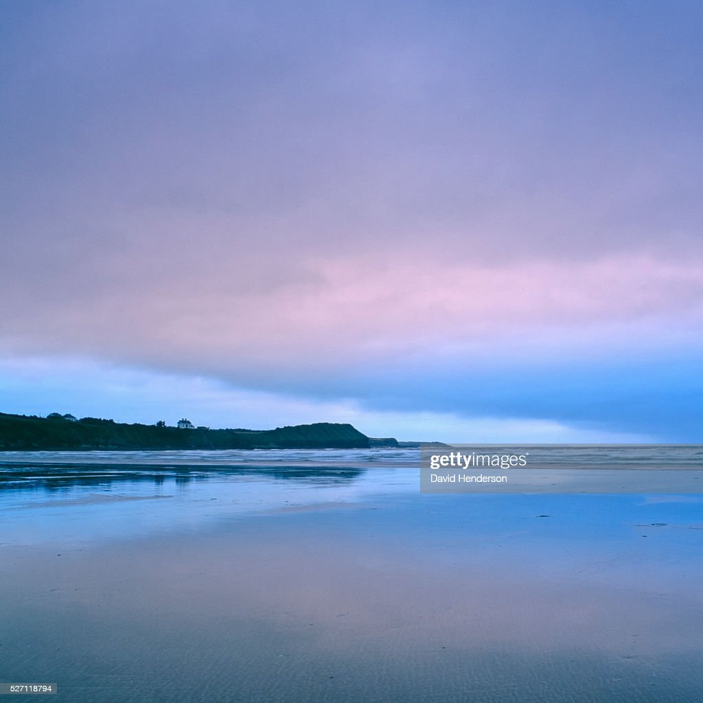 Beach at dusk : Stock Photo