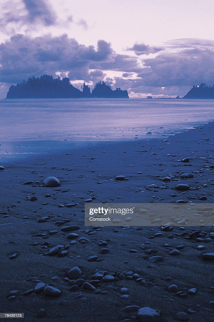 Beach at dusk : Stockfoto