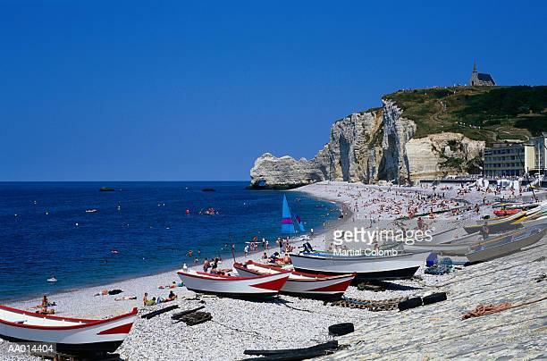 Beach at Etretat