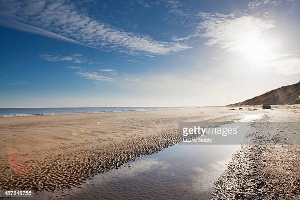 beach at hemsby, norfolk, england - norfolk england stock pictures, royalty-free photos & images