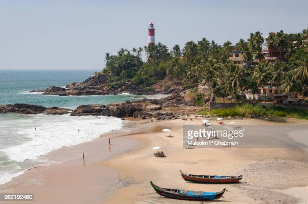 """beach at kovalam, near trivandrum, kerala - india """"malcolm p chapman"""" or """"malcolm chapman"""" stock pictures, royalty-free photos & images"""