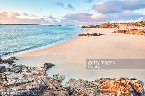 beach at mannin bay, ballyconneely - bay of water stock pictures, royalty-free photos & images