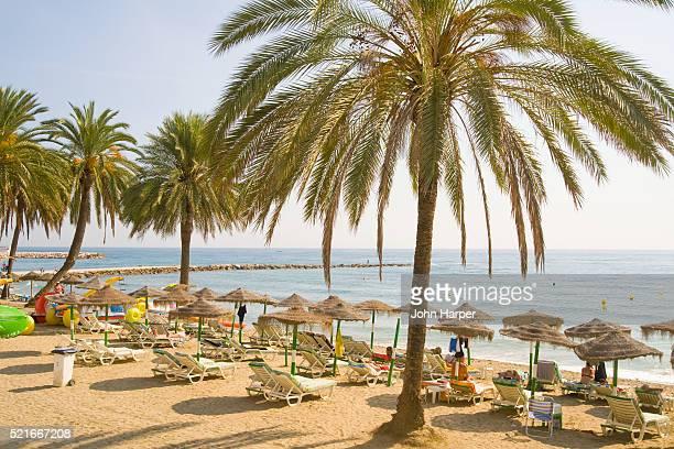Beach at Marbella on Spain's Costa del Sol