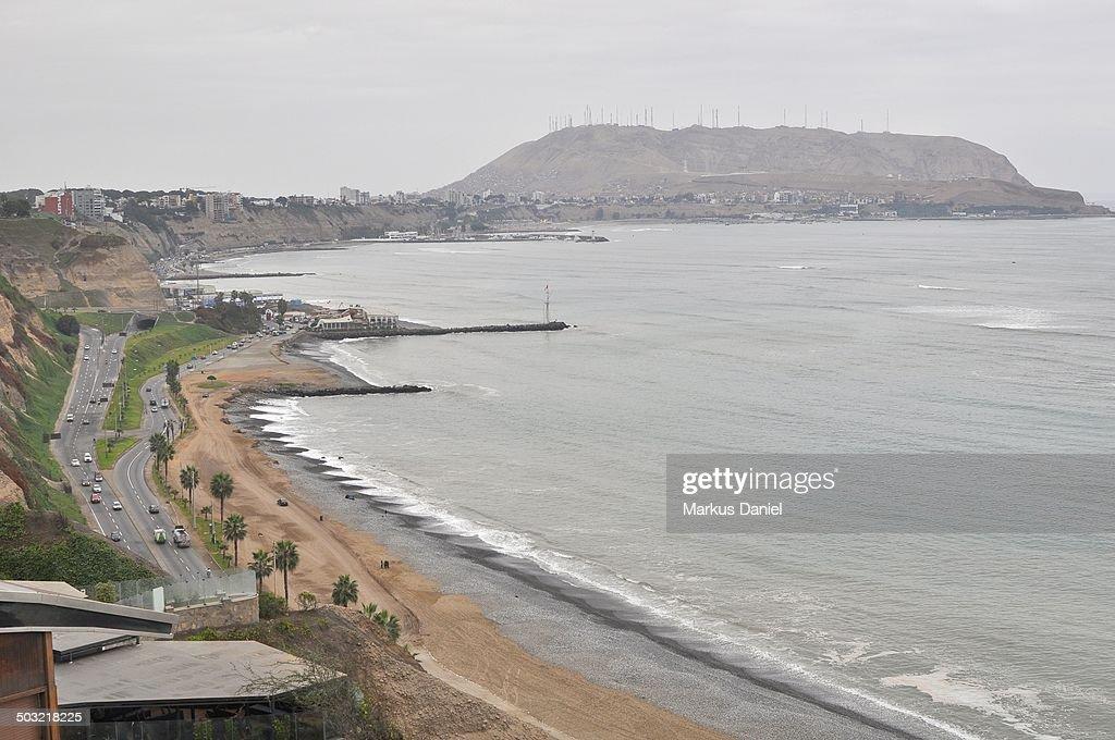 Beach at Miraflores in Lima : Stock Photo