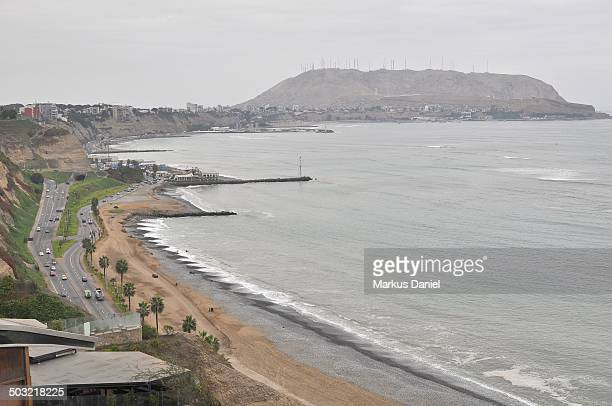 Beach at Miraflores in Lima