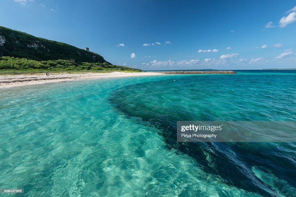 Beach at Miyako Island : Stock Photo