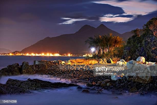 Beach at night of Nha Trang, Vietnam