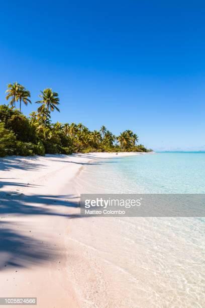 Beach at One Foot Island, Aitutaki, Cook Islands