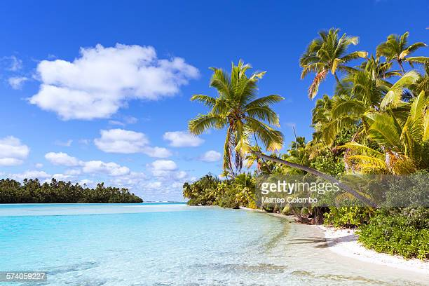 Beach at One Foot Island, Aitutaki, Cook islands
