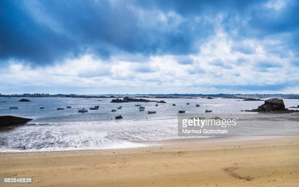 beach at Pors Hir Brittany coast