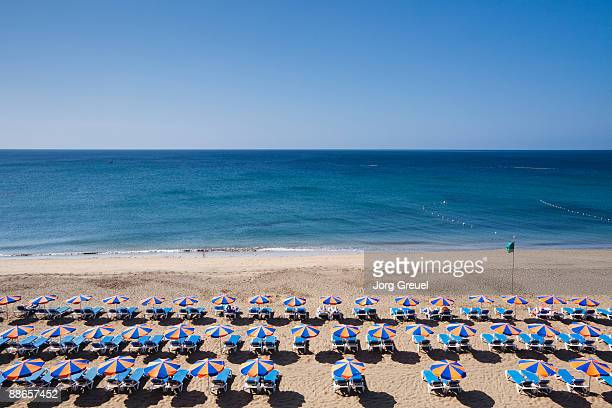 beach at puerto del carmen - lanzarote stock pictures, royalty-free photos & images