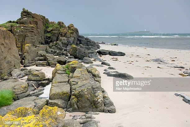 Beach at southern coast of Isle of Arran, near Kildonan. Scotland, UK