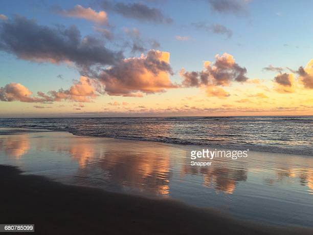 beach at sunset, cannon beach, oregon, america, usa - atmosphere stock pictures, royalty-free photos & images