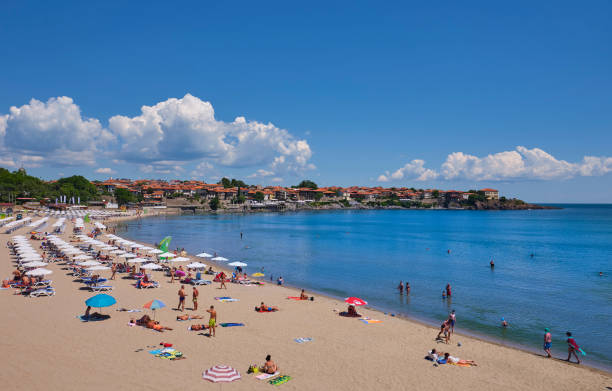 Beach at the black sea resort in Bulgaria