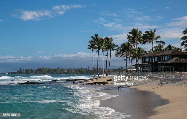 Beach at the Four Seasons Hotel Hualalai is viewed on December 17 along the Kona Kohala Coast, Hawaii. Hawaii, the largest of all the Hawaiian...