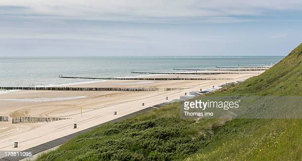 Beach at the North Sea on June 27 2013 in Westkapelle Netherland