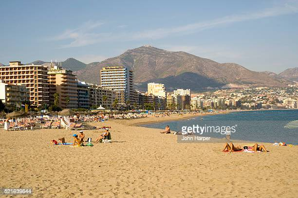 Beach at Torremolinos on Spain's Costa del Sol