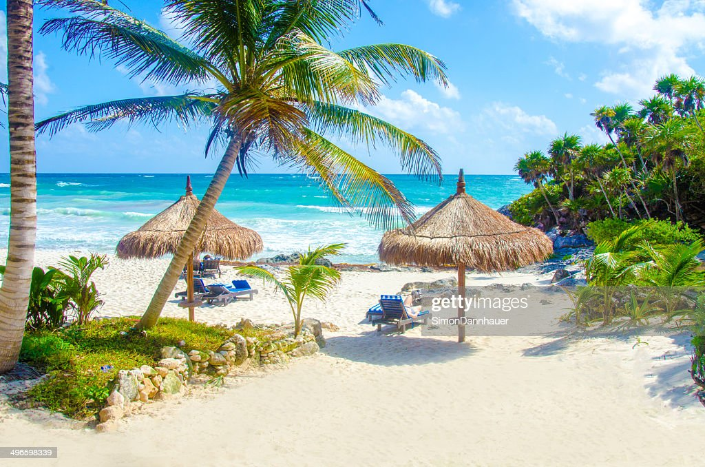 Beach at Tulum : Stock Photo
