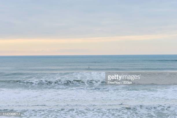beach atlantic ocean - biscarrosse photos et images de collection