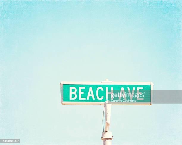 Beach Avenue Street Sign