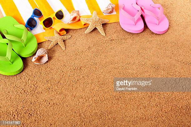 Beach background with copy space