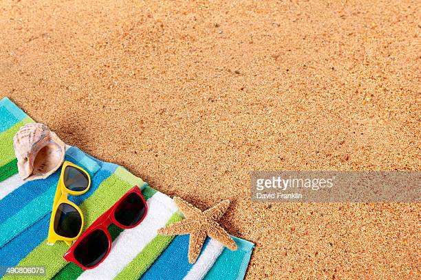 Beach background with copyspace