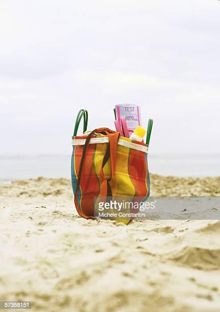 Beach bag on beach