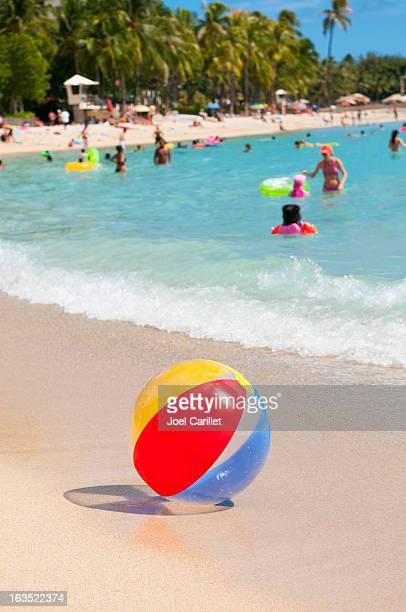 Beach ball at Waikiki Beach, Hawaii