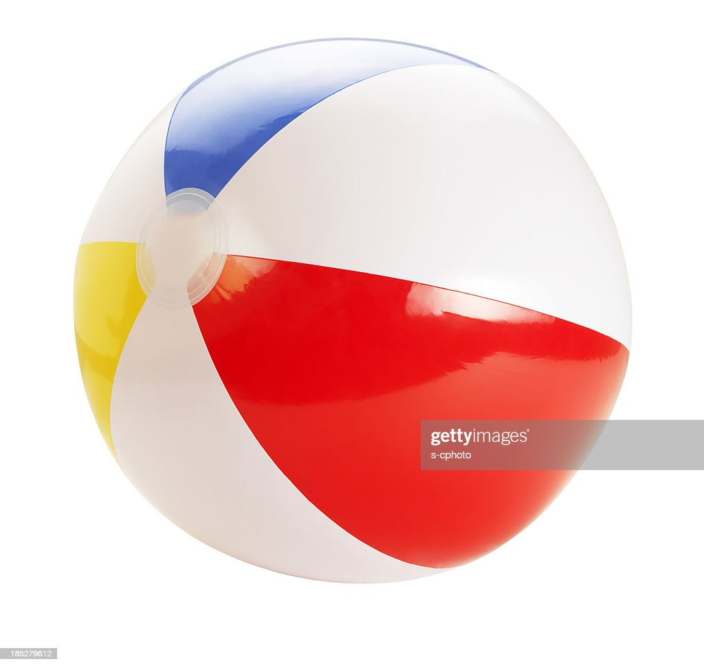 Beach Ball +Clipping Path (Click for more) : Stock Photo