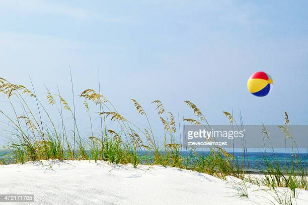 beach ball - destin beach stock pictures, royalty-free photos & images