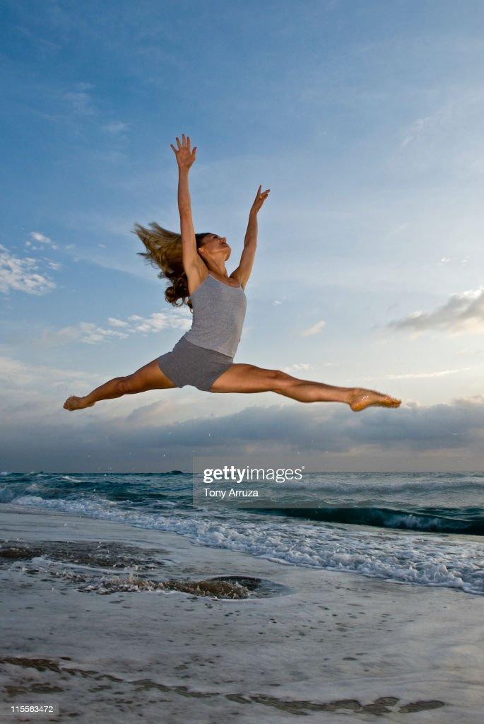 Beach Ballet : Stock Photo