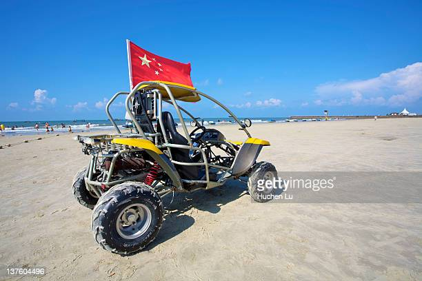Beach bike with a chinese flag on it