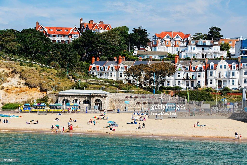 Beach, Boscombe, Bournemouth : Stock-Foto