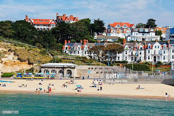 beach, boscombe, bournemouth - bournemouth england stock pictures, royalty-free photos & images