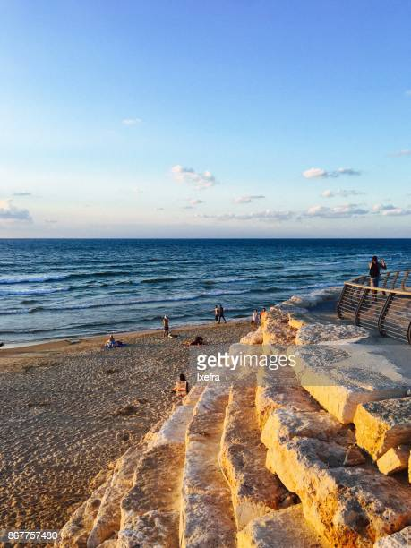 beach boulevard tel aviv - boulevard stock pictures, royalty-free photos & images