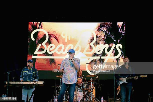 Beach Boys band members, Bruce Johnston and Mike Love performs at The Music Pier on August 24, 2015 in Ocean City, New Jersey.