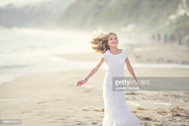 Beach breezes, young girl