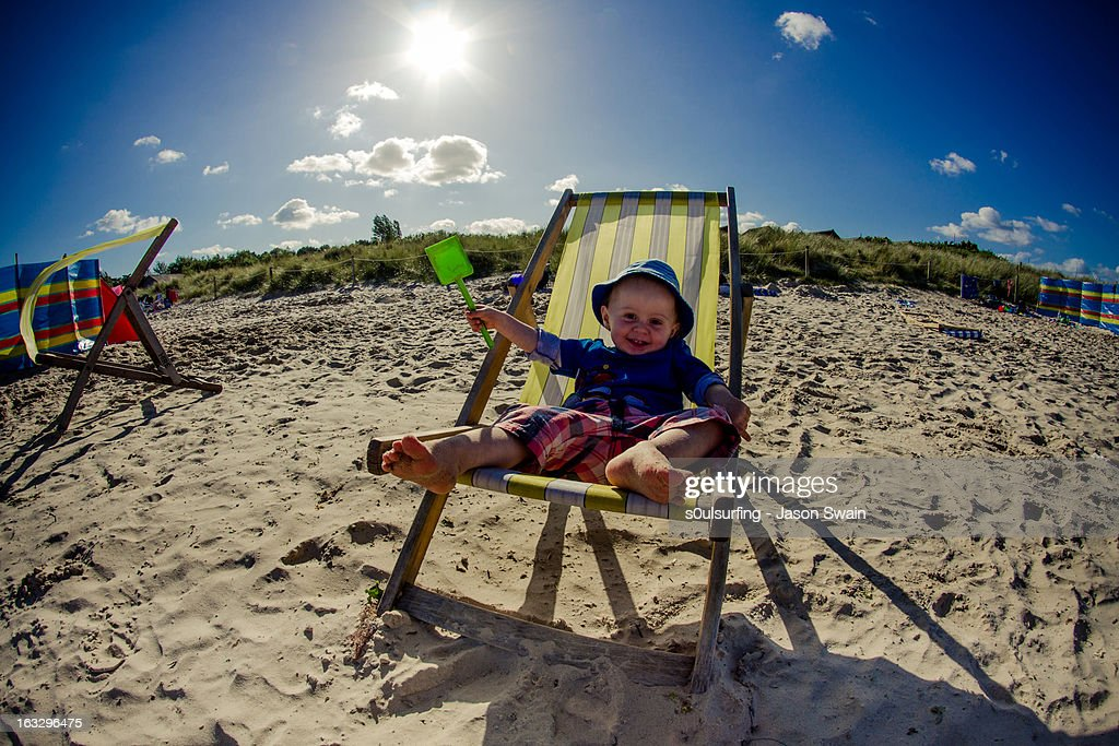 Beach Bum : Stock Photo