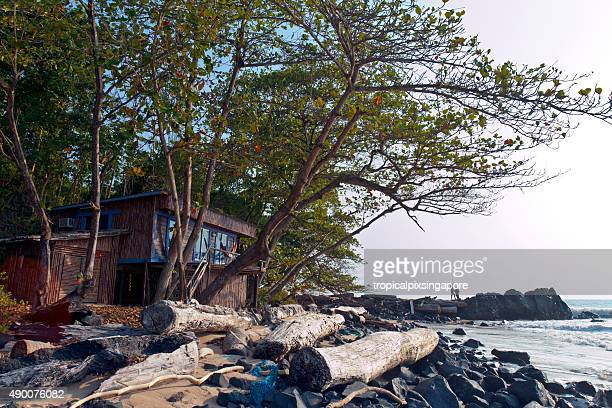 Beach cabin in Pongara National Park