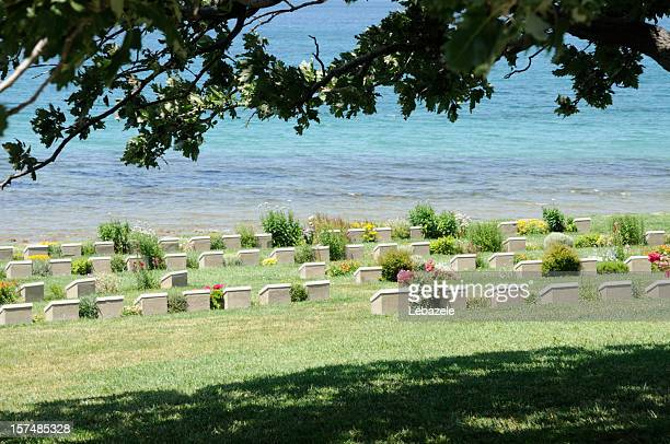 beach cemetery in gallipoli - place concerning death stock pictures, royalty-free photos & images