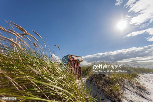 Beach chair in beach landscape