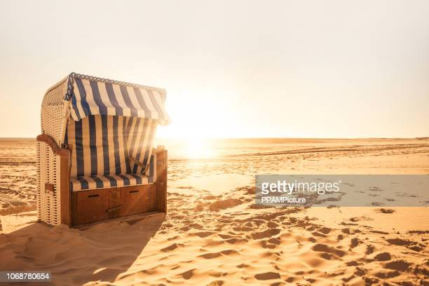 beach chair - north sea stock pictures, royalty-free photos & images