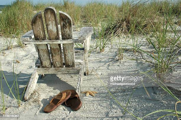 Beach Chair with sandles and space