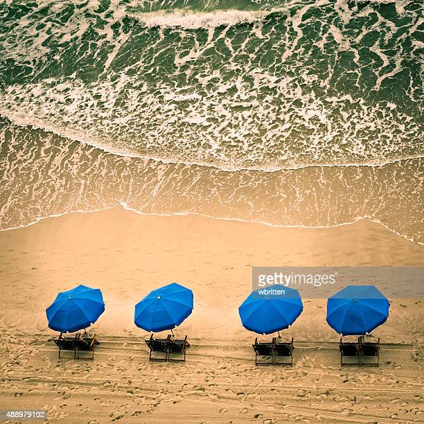 beach chairs and ocean waves - file:myrtle_beach,_south_carolina.jpg stock pictures, royalty-free photos & images