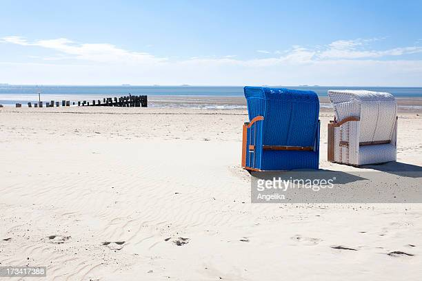 Beach chairs, Island of Foehr, North Sea
