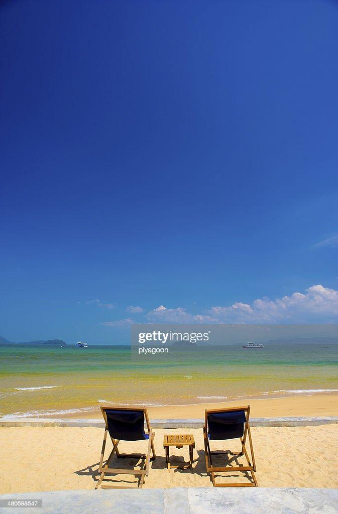 Beach Chairs : Stock Photo