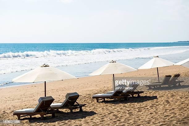 Beach chairs, Seminyak Beach, Seminyak, Bali